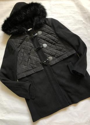 Шикарное тёплое драповое пальто