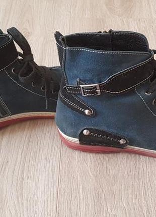 Демисезонные ботинки замш