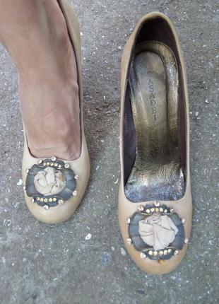 Casadei туфли кожаные