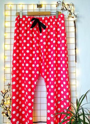 Домашние пижамные штаны большого размера