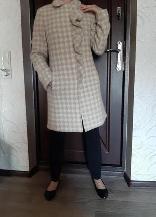 """Оригинальное трендовое пальто в """"гусиную лапку"""""""