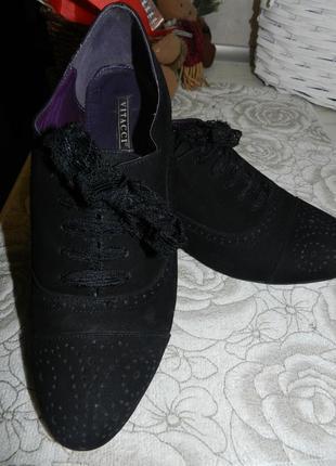 Замшевые туфельки-оксфорды
