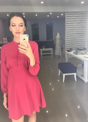 Платье с пуговицами цвета фуксия м zara зара