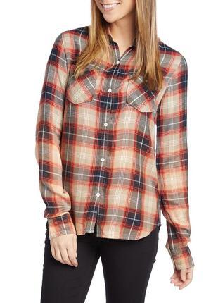 Фланелевая рубашка крутого бренда burton