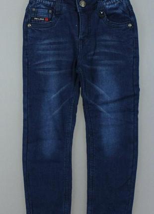 Джинсовые брюки на флисе для мальчиков grace
