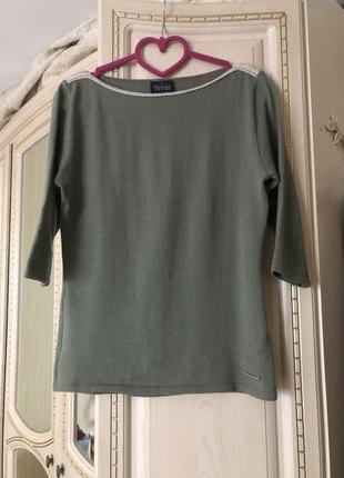 Облегчённый джемпер свитер лонгслив, натуральная шерсть оригинал trussardi jeans