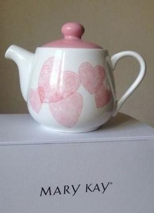 Эксклюзивный чайник сердечное тепло от мери кей,mary kay