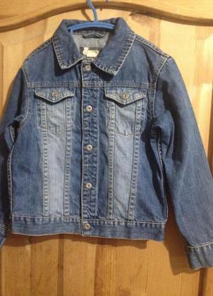 Джинсовая курточка джинсовую h&m 7-8 лет