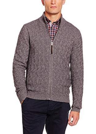 Джемпер brax кофта на змейке свитер в составе шерсть, кашемир
