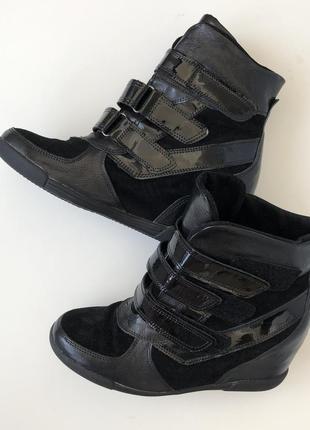 Сникерсы кроссовки ботинки на липучках в стиле isabel marant
