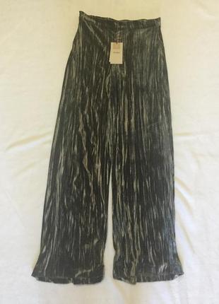 Велюровые длинные колоты юбка брюки