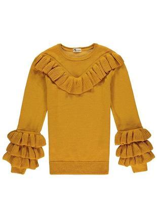 Итальянский свитер tezenis с рюшами