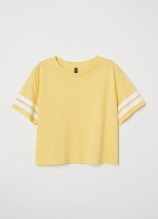 Короткая футболка h&m 0526708032