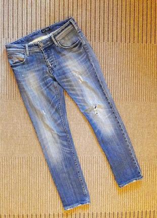 Джинсы синие с разрывами #armani jeans #оригинал