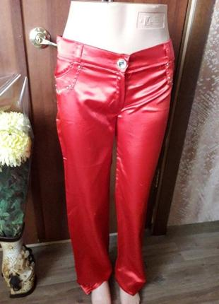 Легкие атласные брюки