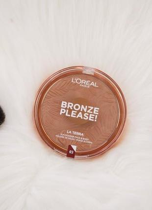 Бронзер loreal bronze please, оттенок 03