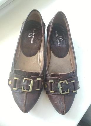 Балетки, туфли кожа
