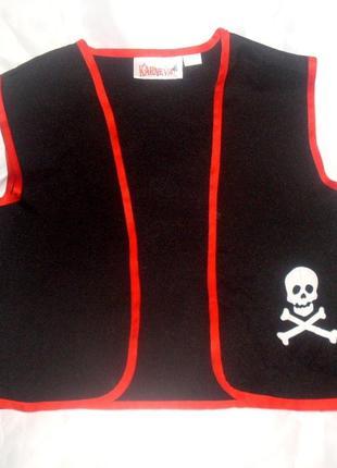 Жилет для костюма пирата ростом 122-128 см