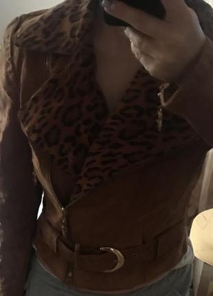 Замшева куртка косуха