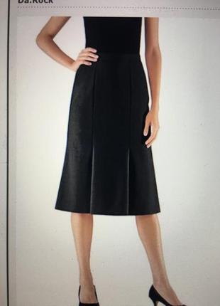 Чуть расклешенная полушерстяная классическая юбка trevira 48