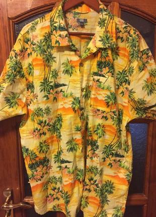Easy гавайская рубашка на крупного мужчину!