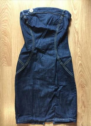 Джинсовое платье футляр s-m размер