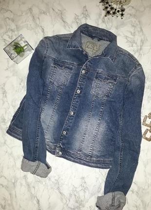 Куртка джинсовая с надписью