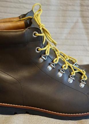 Великолепные высокие темно-коричневые кожаные ботинки timberland waterproof timberdry 13 w
