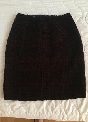Prada твидовая юбка  карандаш