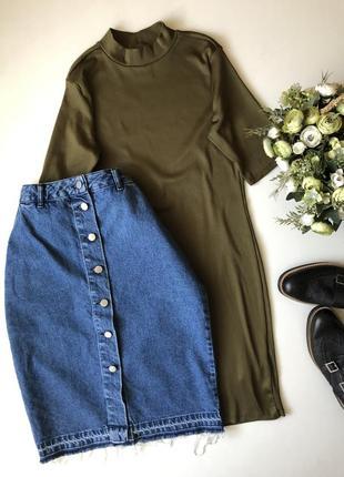 Джинсовая юбка asos размер м-л(12)