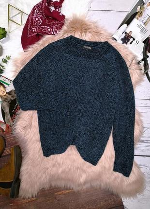 Шикарный изумрудный велюровый свитер