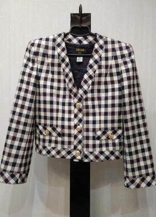 Стильный шерстяной пиджак celine р 40