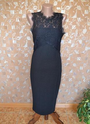 Шикарное новое платье с кружевом