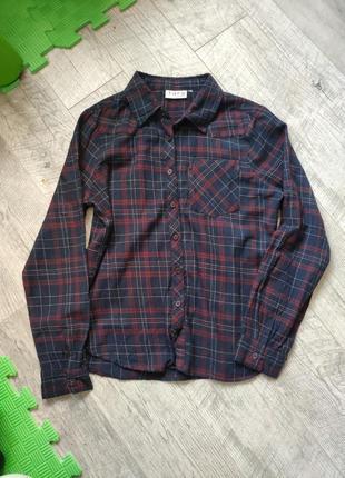 Рубашка в клетку стильная tara closing