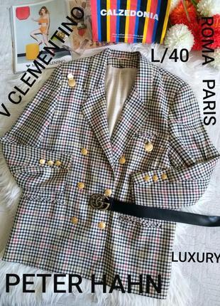Peter hahn v clementino roma paris l/40 шикарный пиджак люксового качества