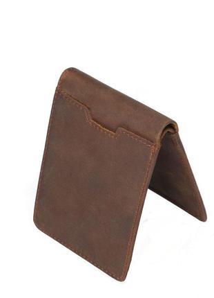 Маленький компактный кошелек из натуральной кожи