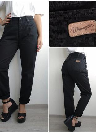 Wrangler стрейчевые с высокой посадкой джинсы бойфренды черные