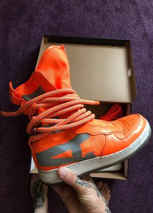 Кроссовки nike se air force-1 high total orange