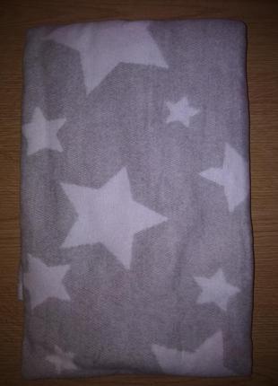 Одеяло детское хлопковое тм ярослав серое звезды размер 90*100