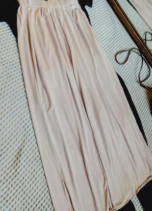 Нюдова спідниця максі3 фото