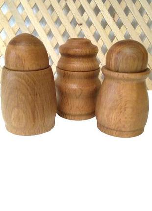 Деревянный набор для специй, ручная работа.