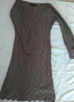 Очень красивое платье вязаное осень