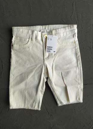 Білі джинсові шорти для хлопчика h&m, ддинсовые шорты для мальчика