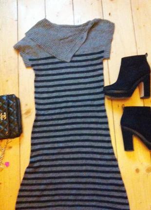 Шерстяное ангоровое платье туника