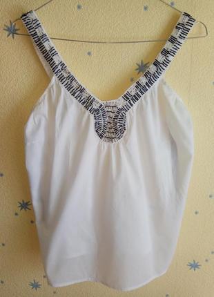 Батистовая майка-распашонка oasis и джинсовая юбка в подарок