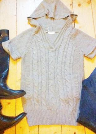 Вязаная туника свитер