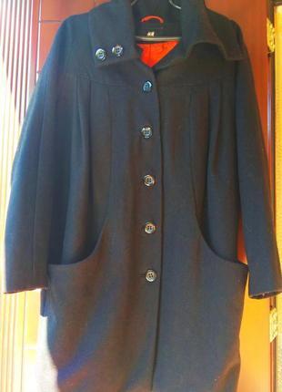 Шерстяное пальто от h&m