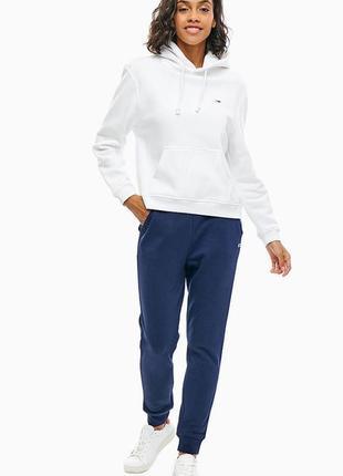 Tommy jeans синие брюки на флисе с манжетами
