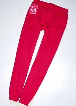 La gear  новые спортивные штаны  цвета фуксии на резинке. 11-12 лет.