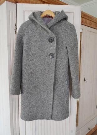 Шерстяное осеннее пальто от mirella moda
